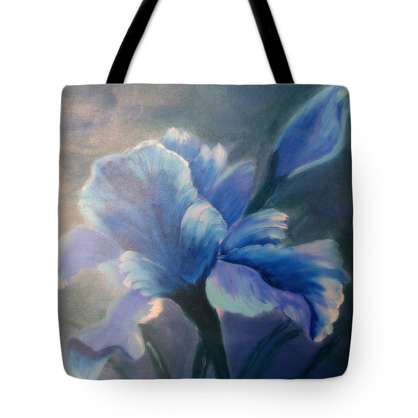 Iris Blue Tote Bag by Kay Novy