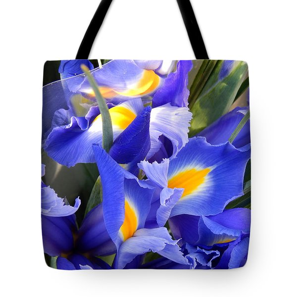 Iris Blues In New Orleans Louisiana Tote Bag
