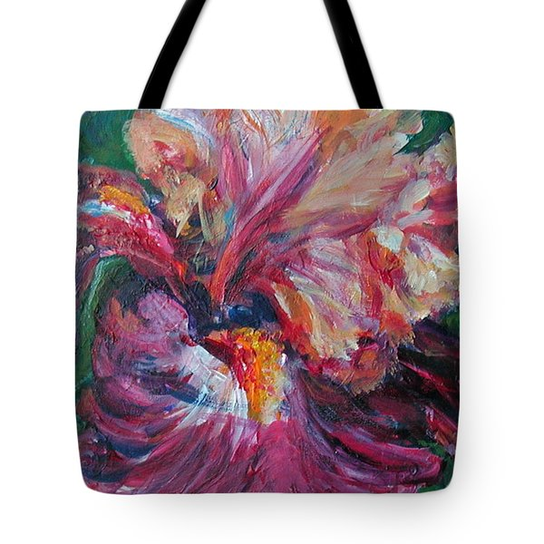Iris - Bold Impressionist Painting Tote Bag