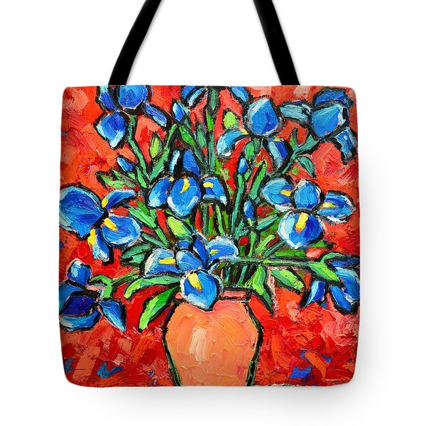 Iris Bouquet Tote Bag by Ana Maria Edulescu