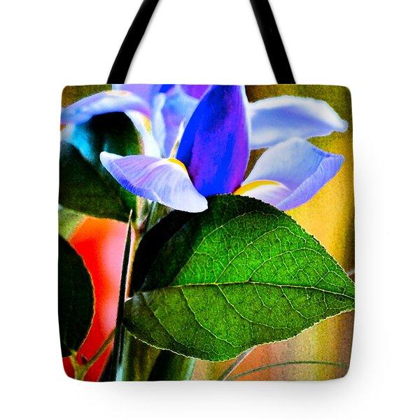 Iris Carried Away Tote Bag by Gwyn Newcombe