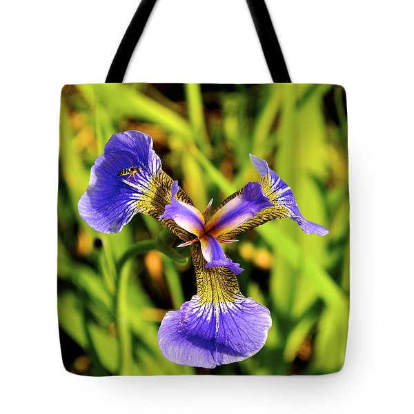Tote Bag featuring the photograph Iris by Cathy Mahnke