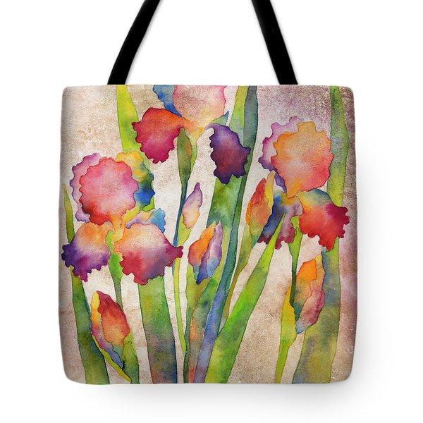 Iris Elegance On Pink Tote Bag