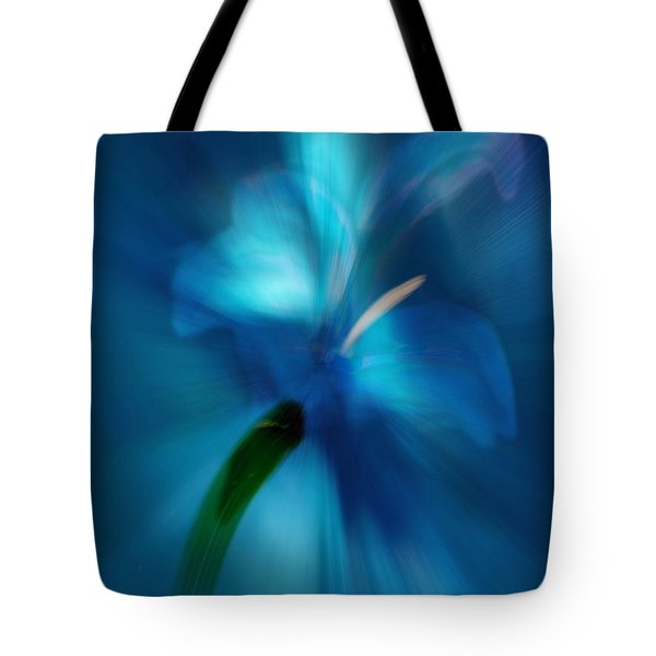 Tote Bag featuring the digital art Iris Essence by Frank Bright