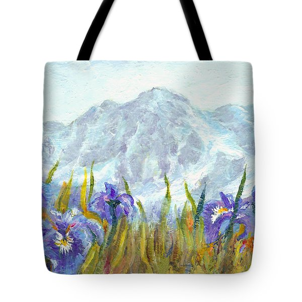 Iris Field In Alaska Tote Bag