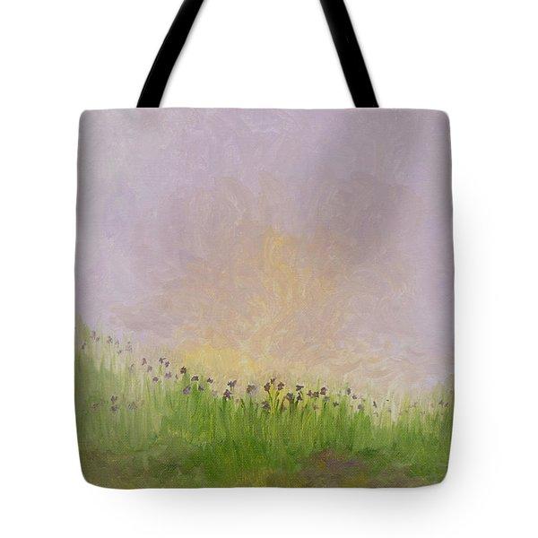 Iris Field Tote Bag by Mark Minier