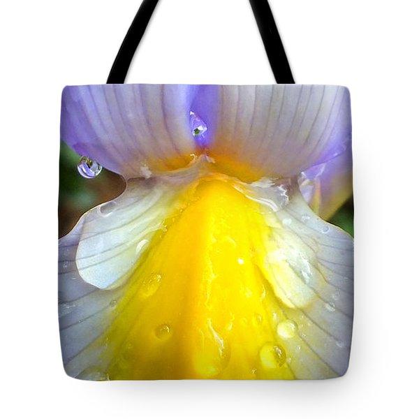 Iris Flower Petal Upclose Tote Bag