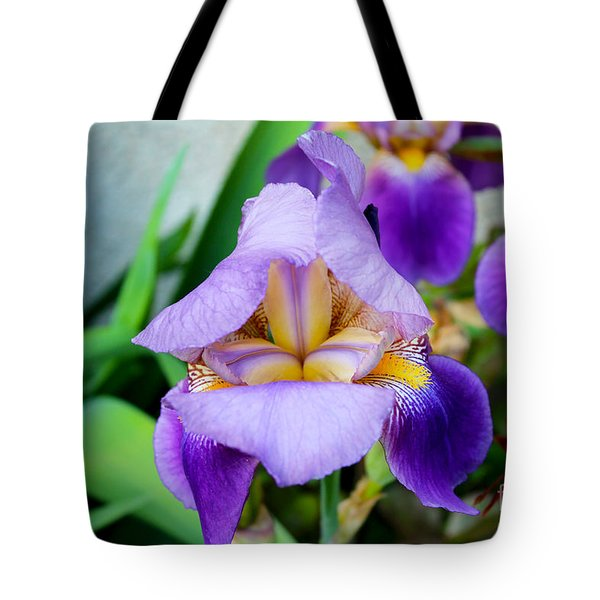 Iris From The Garden Tote Bag