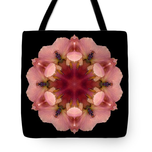 Iris Germanica Flower Mandala Tote Bag