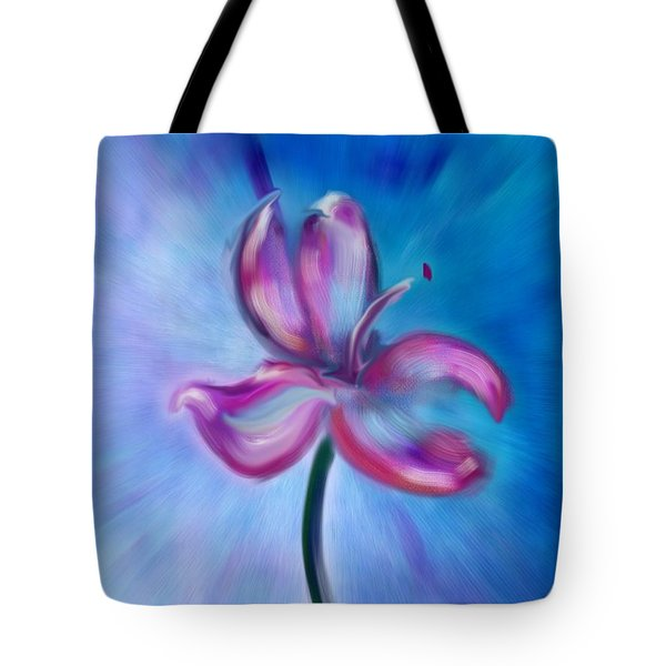Tote Bag featuring the digital art Iris In Pastel by Frank Bright