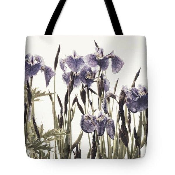 Iris In The Park Tote Bag by Priska Wettstein