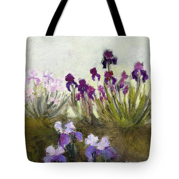 Iris In The Yard Tote Bag