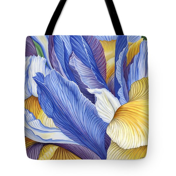 Tote Bag featuring the painting Iris by Jane Girardot