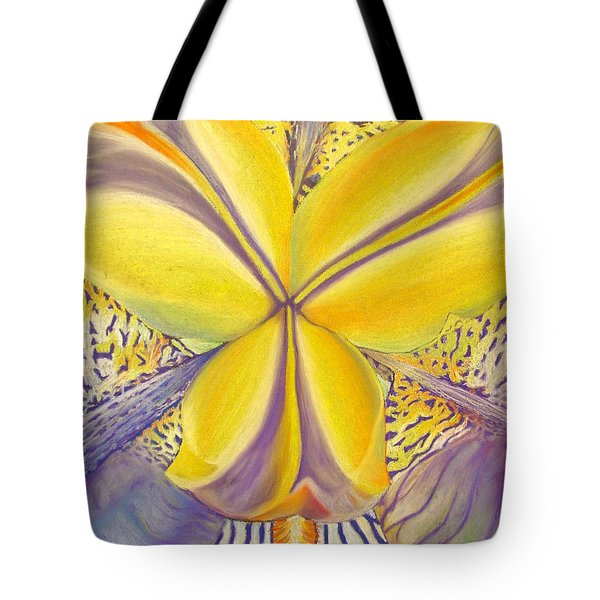 Tote Bag featuring the drawing Iris by Joshua Morton