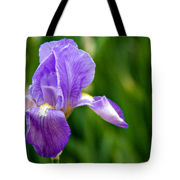 Tote Bag featuring the photograph Iris by Lana Trussell