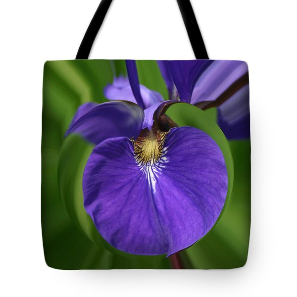 Iris Leaf Tote Bag