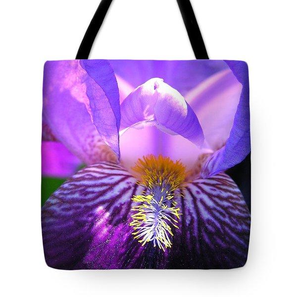 Iris Light Tote Bag