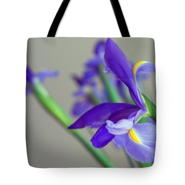Tote Bag featuring the photograph Iris by Lisa Phillips