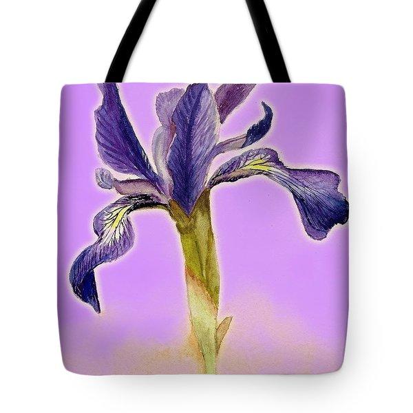 Iris On Lilac Tote Bag
