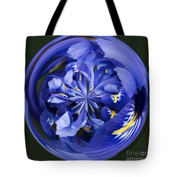 Iris Orb Tote Bag by Anne Gilbert