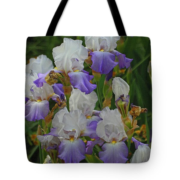 Iris Patch At The Arboretum Tote Bag by Tom Janca