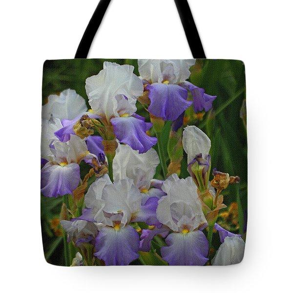 Iris Patch At The Arboretum Tote Bag