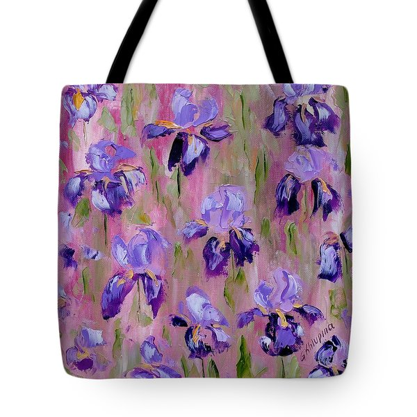 Iris Pattern Tote Bag