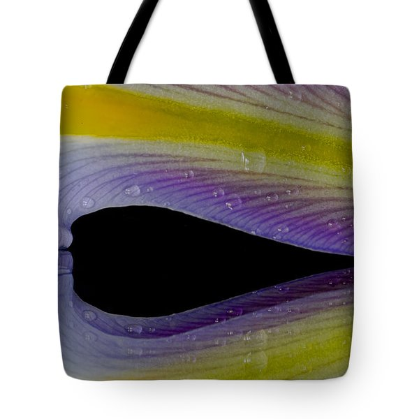 Iris Petal Reflected Tote Bag
