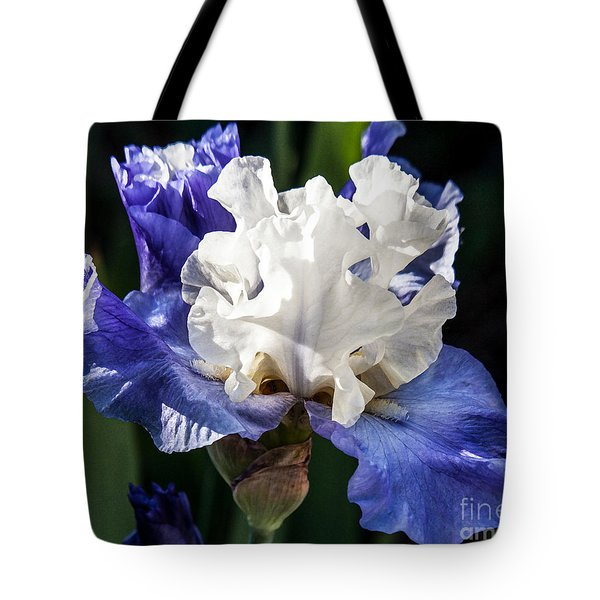 Tote Bag featuring the photograph Stairway To Heaven Iris by Roselynne Broussard
