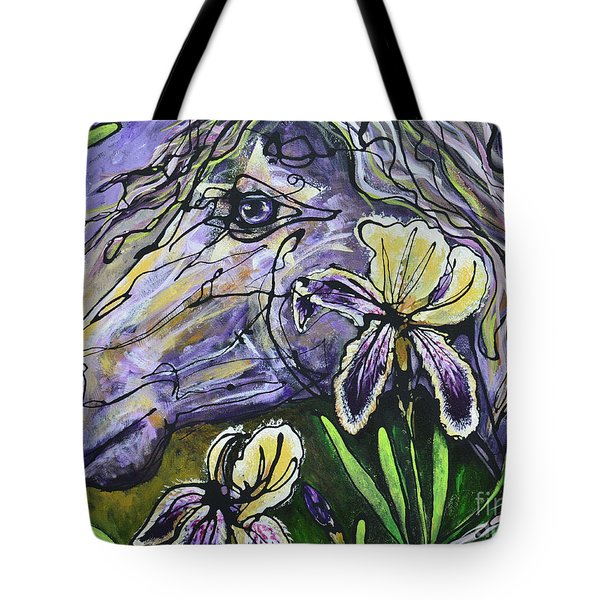 Iris Upon A Star Tote Bag