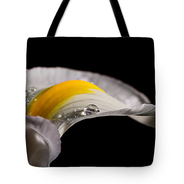Iris With Water Tote Bag by Mary Jo Allen