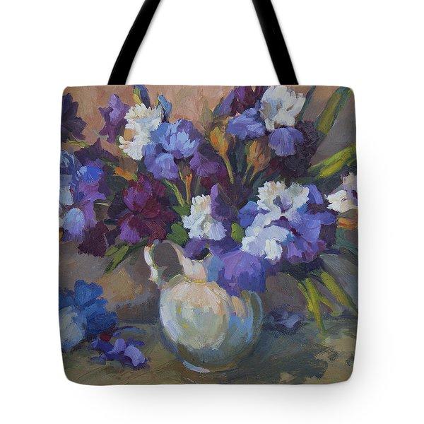 Irises Tote Bag by Diane McClary