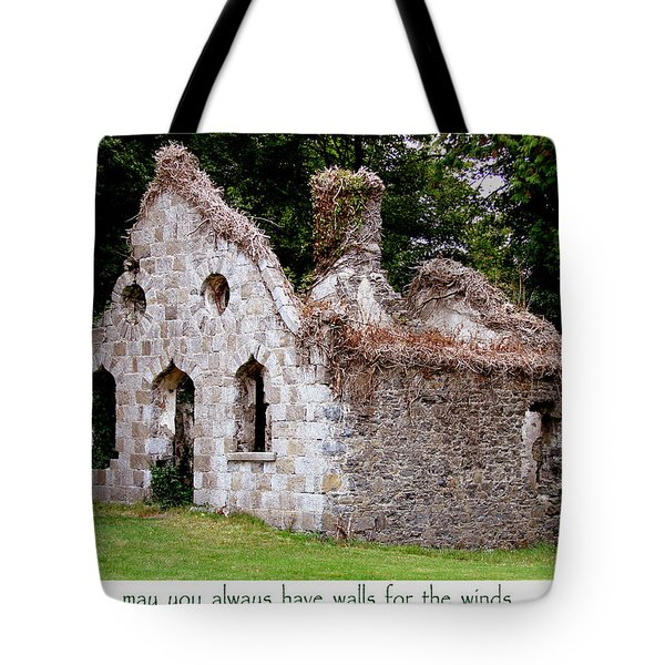 Irish Blessing Tote Bag by Charlie and Norma Brock