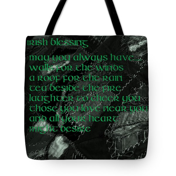 Irish Blessing Stitched In Time Tote Bag