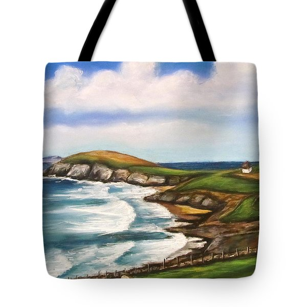 Dingle Peninsula Irish Coastline Tote Bag