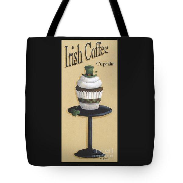 Irish Coffee Cupcake Tote Bag by Catherine Holman