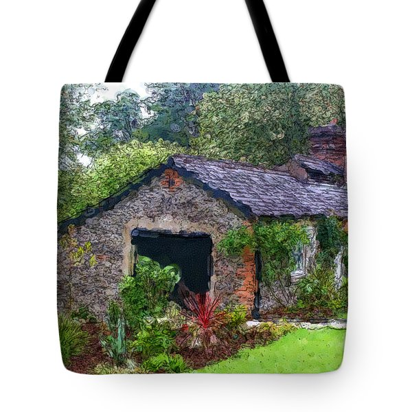 Tote Bag featuring the photograph Irish Cottage by Beauty For God