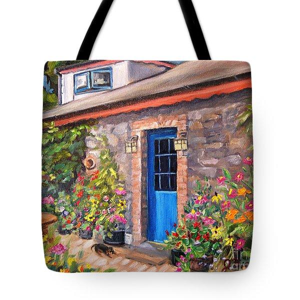 Irish Cottage Tote Bag by Jennifer Beaudet
