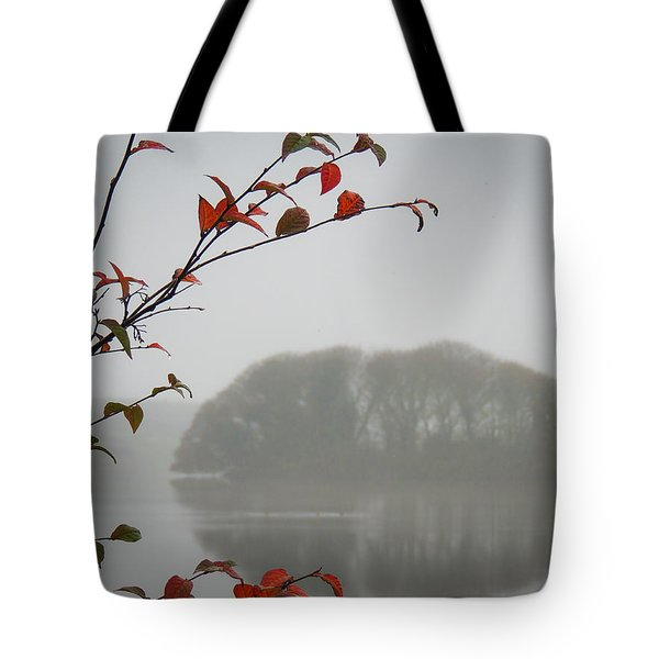 Irish Crannog In The Mist Tote Bag