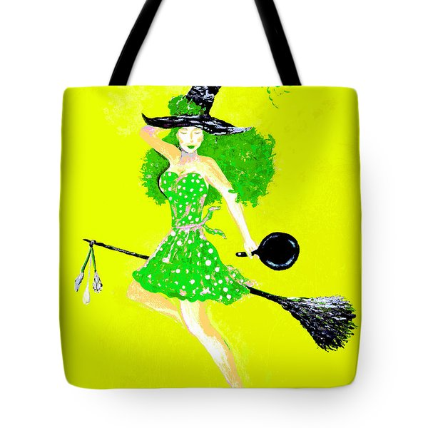 Irish Kitchen Witch Tote Bag by Alys Caviness-Gober