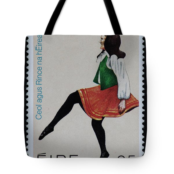 Irish Music And Dance Postage Stamp Print Tote Bag by Andy Prendy