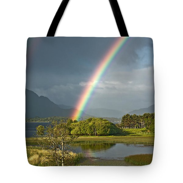 Tote Bag featuring the photograph Irish Rainbow by Jane McIlroy
