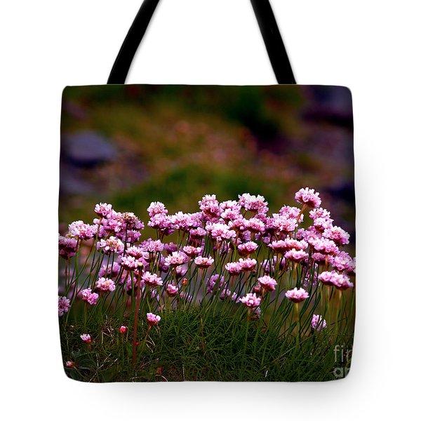 Irish Sea Pinks Tote Bag