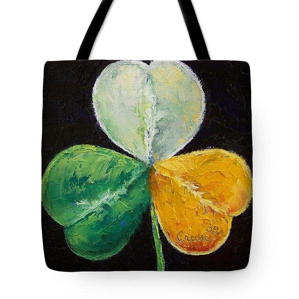 Irish Shamrock Tote Bag by Michael Creese