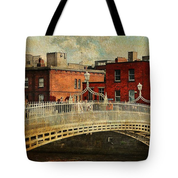 Irish Venice. Streets Of Dublin. Painting Collection Tote Bag by Jenny Rainbow