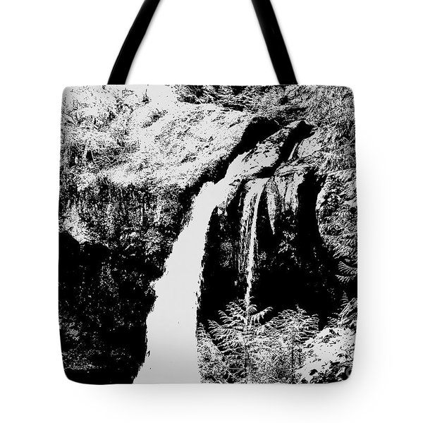 Iron Creek Falls Bw Tote Bag