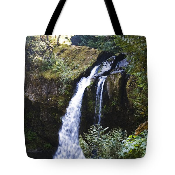 Iron Creek Falls Tote Bag by Rich Collins