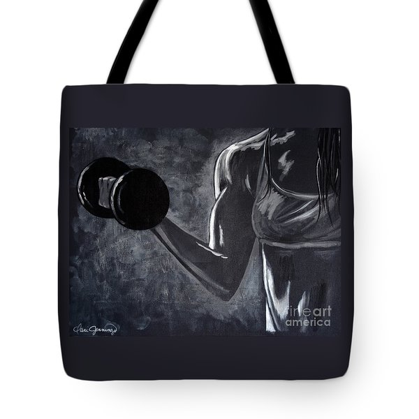 Iron Girl Tote Bag