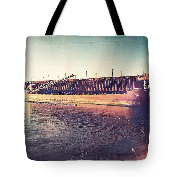 Iron Ore Freighter In Dock Tote Bag