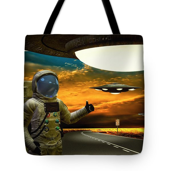 Ironic Number Four - Hitchhiker Tote Bag by Bob Orsillo